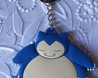 Snorlax Pokemon Keychain