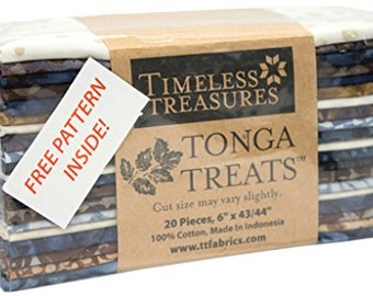 """Tonga Treat 6-Pack Rockport 6"""" Strips for Timeless Treasures"""