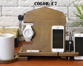 Iphone dock station Iphone Station rustic wood stand gift NOT wedding favors rustic wedding favors favors coasters favors coffee favors seed