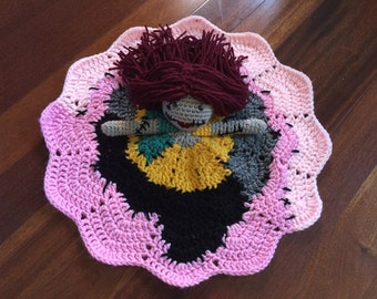 Crochet Sally from Nightmare Before Christmas Doll, Lovey, Security Blanket