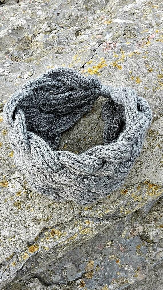 Autumn headband Winter headband Grey Ear warmer Crochet ear warmer Crochet headband Clothing Accessories Headband Handmade Ready to ship