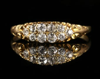Antique Victorian Diamond Ring 18ct Gold
