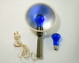 GIFT!!! Vintage soviet lamp, Blue lamp Soviet medicine lamp Reflector Minin Ultraviolet lamps Blue light retro Soviet medicine made in USSR