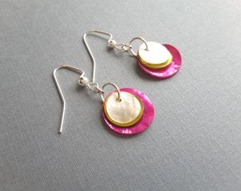 Layered Shells . Earrings
