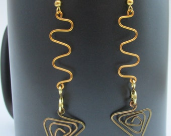 Fun and Funky Earth Toned Hand Shaped Earrings