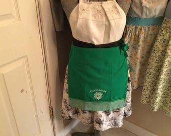 St. Patrick's Day Kitchen Towel Apron Skirt...Wear With or Without Your Favorite Apron