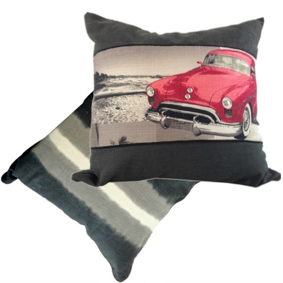 Man Cave Pillow With Cup Holder : Car pillow in black and pink man cave throw cover