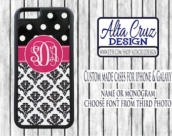 Personalized Monogrammed cell phone case, iPhone or Galaxy, name or monogram #139
