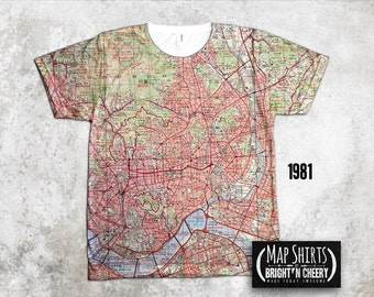 Vintage Seoul Map Shirt, South Korea Map Shirt, Seoul tshirt, Korean Map Shirt, Incheon metropolis, Han River, Asian Map Shirt, Seoul 서울시