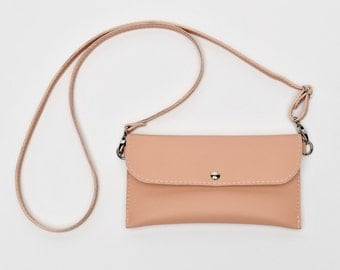 Pink Crossbody Bag/Phone Case