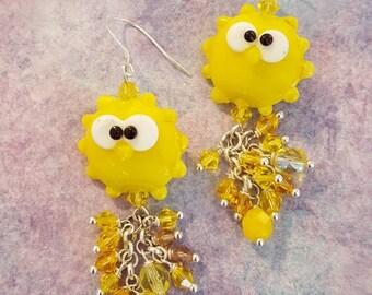 Walking on sunshine earrings