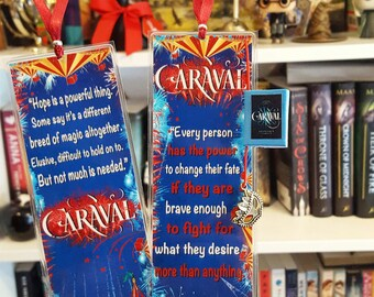 Caraval bookmark - Handmade