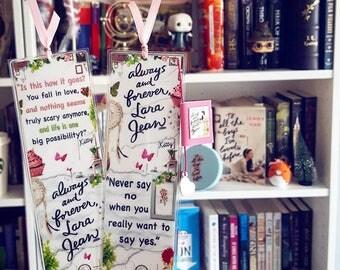 Always and forever Lara Jean bookmark - Handmade