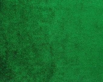 "Ethnic Fabric, Green Velvet Fabric, Stretch Velvet, Dress Fabric, Craft Fabric, 64"" Inch WIde Fabric By The Yard ZVE94B"