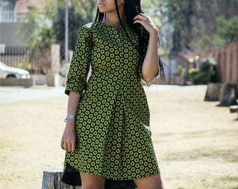 African Print top, shirt dress, Ankara, Ankara dress, African Clothing, Ankara Clothing, ethnic, tribal color dress, summer dress