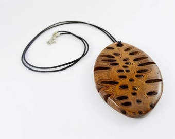Long boho necklace - wooden necklace, wooden jewelry, unique necklace, long necklace, wood pendant, gift for her, australian made, banksia