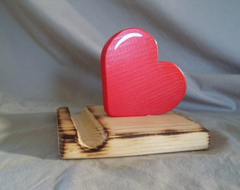 Heart Universal Tablet Holder Handmade & Hand Painted