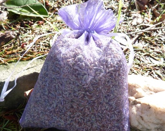 Set of 3 Large Dried Lavender Sachets- Provence Lavender - 2016 Fresh Crop  -  Great For Weddings, Home Decor, and Much More!