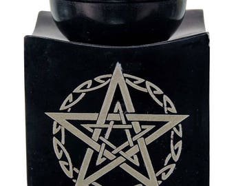 Beautiful Soapstone Oil burners (your choice OM or Pentacle)