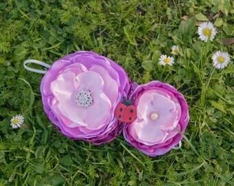 Lavender headband, Flower headband, Lady bug headband, Birthday headband, Infant headband, Flower girl headband, Newborn headband, headband