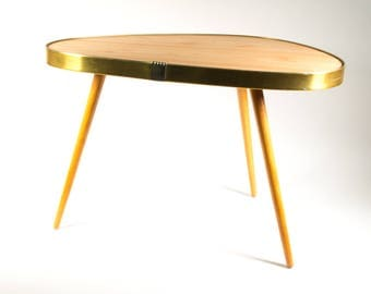 Vintage 60s side table, coffee table, flower stool, plant stand, Germany