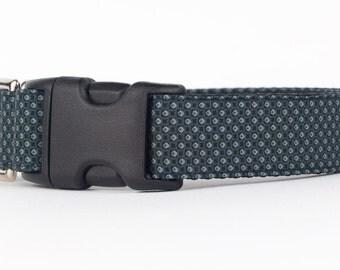 Patterned Fabric Dog Collar, Dots Designer Dog Collar, Custom Dog Collar, Puppy Collar, 1 Inch Dog Collar, Dog Accessories