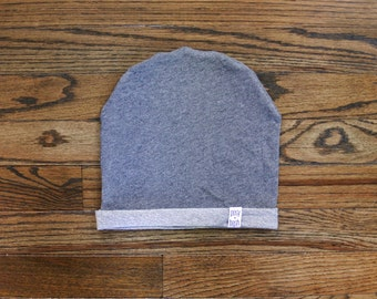 The Dark Grey French Terry Beanie, Slouchy Beanie, Baby Beanie, Grey Baby Beanie, Toddler Beanie, Mom and Dad Matching Hat