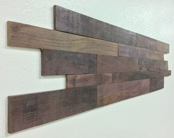 Wine Soaked Wine Barrel Stacked Wall Panels DIY