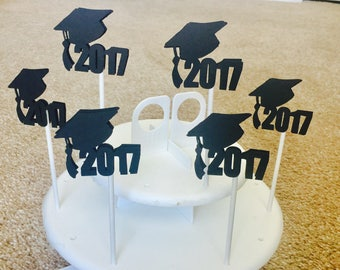 Graduation 2017 cupcake topper cake topper Set of 12