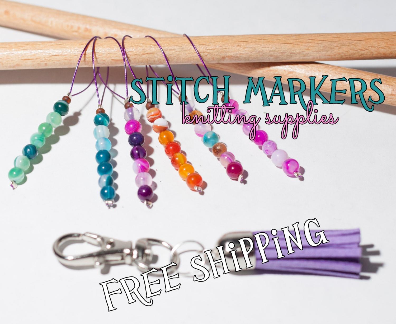 Knitting Lifeline With Stitch Markers : Knitting stitch markers set of stitch markers by Theordinarydiary