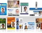 13 Plastic ID Badges w/ free lanyards