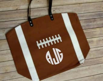 Personalized Sports Bag, personalized Football Tote Bag, Football Mom Tote bag