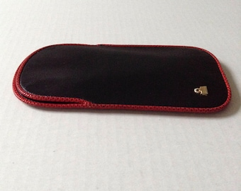 Judith Leiber Navy Blue Leather Eyeglass Holder - Free Shipping