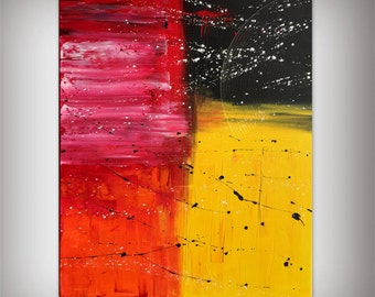 Abstract oil paintings colorful contemporary