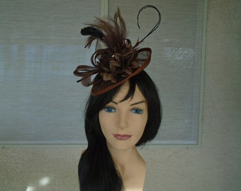 brown fascinator