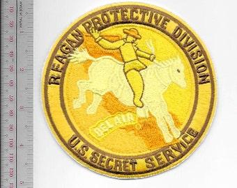 US Secret Service USSS President Reagan Protective Division Belair Agent Service Patch gold