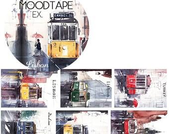 City Trams // Decorative Washi Tape // City Series // Scrapbook, Journal, Planner Essentials