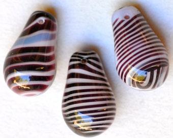 "Large ""Light Bulb"" Wedding Bead - Czech Glass Teardrop Bead -  15mm x 24mm - Various Colors - Qty 3"