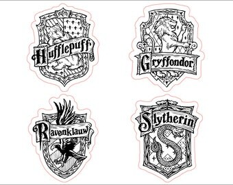 Harry Potter - Coats of Arms - 4 Vector Models - svg cdr ai pdf png files Files for CNC Laser Engraving Cutting Printing Cutting Template
