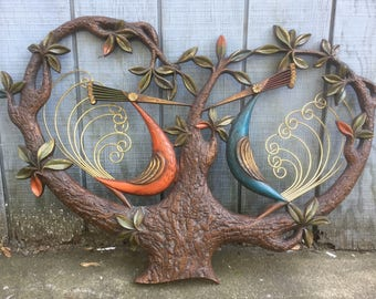 Mid Centuey Birds Wall Sculpture