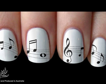 Melody Music Note Nail Art Sticker Water Transfer Decal 22