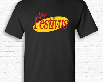 Happy Festivus funny Seinfeld Christmas T-shirt Tshirt Tee Shirt Gift • Costanza Merry Anti-XMAS Gift Festivus for the Rest of Us • TF-186