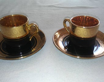 4 piece set gibbons & sons gold plated tea set