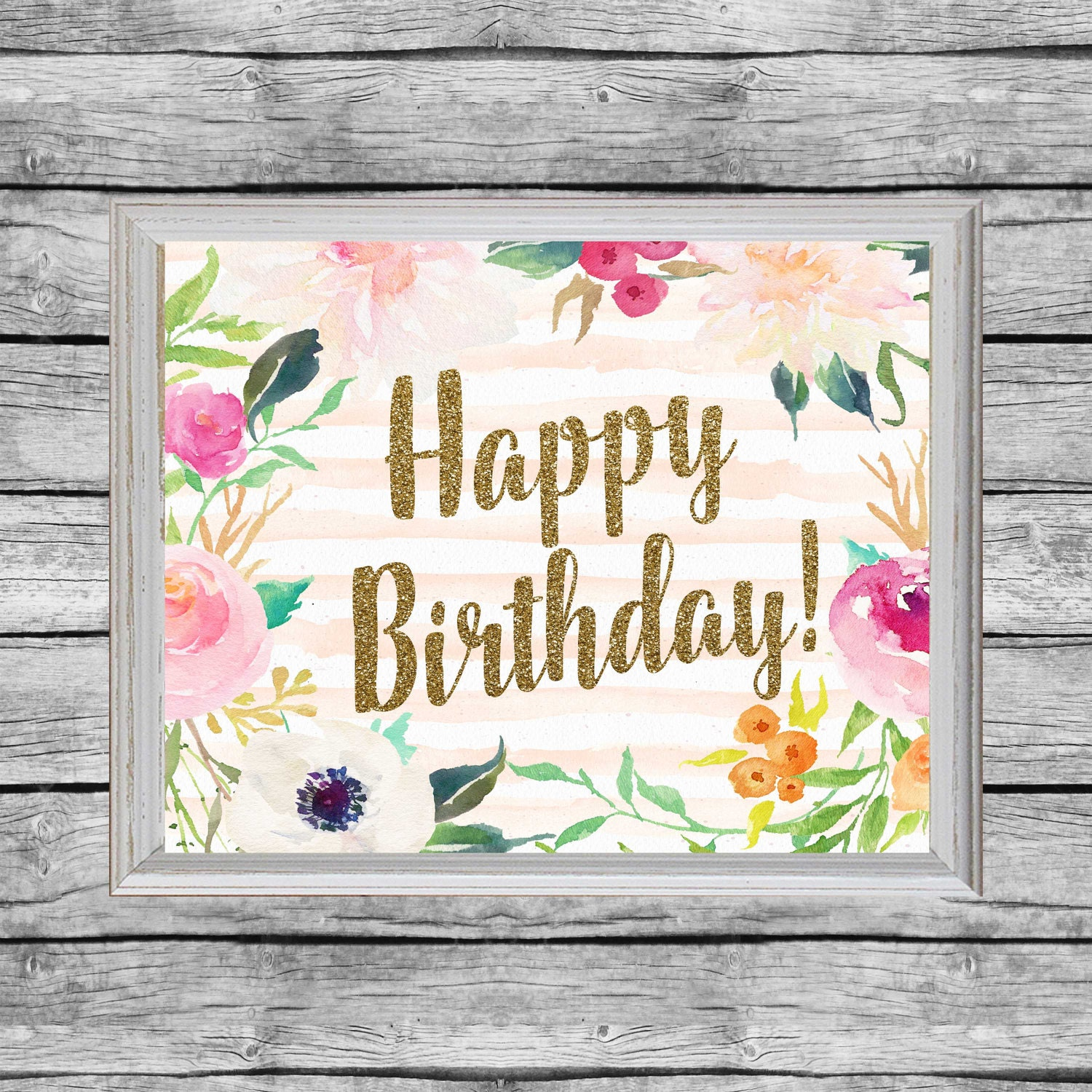 It's just a graphic of Clean Happy Birthday Signs Printable