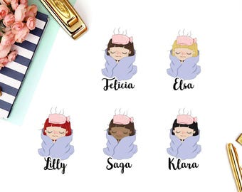 Sick Day, Flu | Girl (matte planner stickers, perfect for planners)