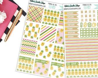 Kawaii Pineapple Weekly Kit for Mini Happy Planner