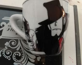 Coffee cups with designs Jigen and Goemon-Jigen and Goemon coffee cups