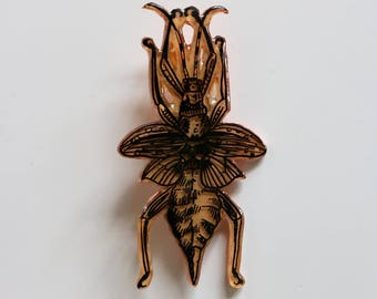 Winged Beatle Pin