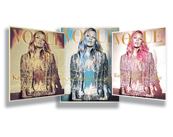 Kate Moss - Set of 3 glossy art prints.