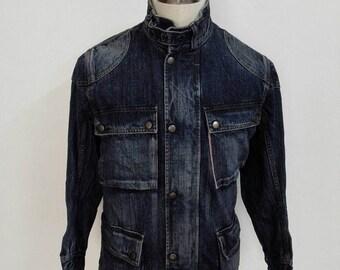Rare!!! Vintage Edwin 505s Selvedge Denim Jacket Size Medium Four Pocket Nice Design